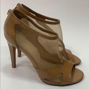 Saks fifth avenue Arianna peep toe sheer patent 8